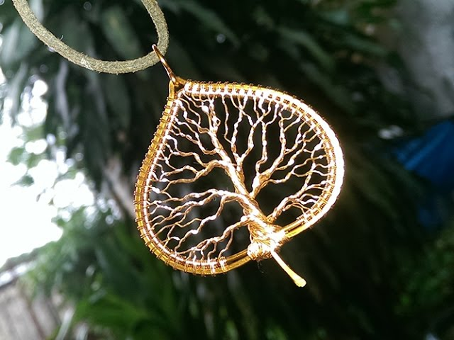 Tree Of Life In The Leaf Pendant Jewelry Making