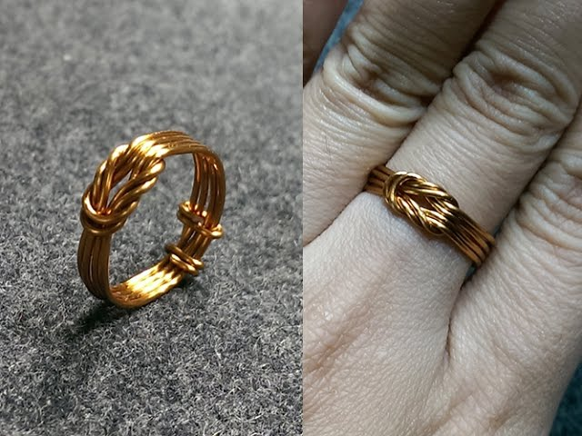 Knot ring - How to make wire jewelry 147 - LanAnh Handmade