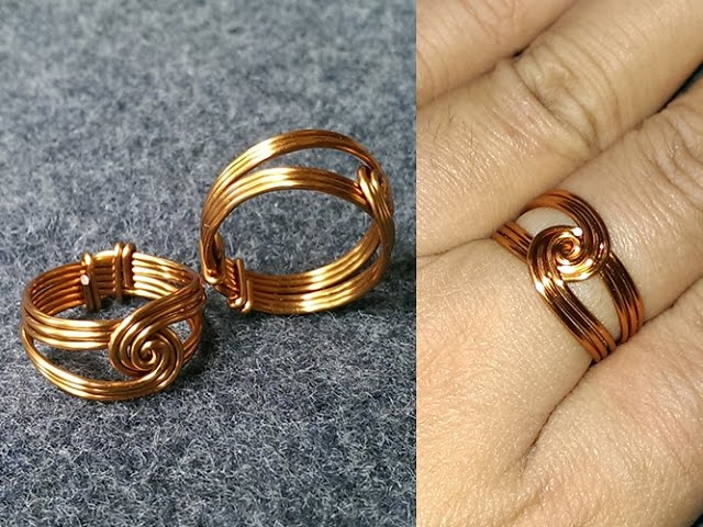 How To Make Wire Ring With Beads