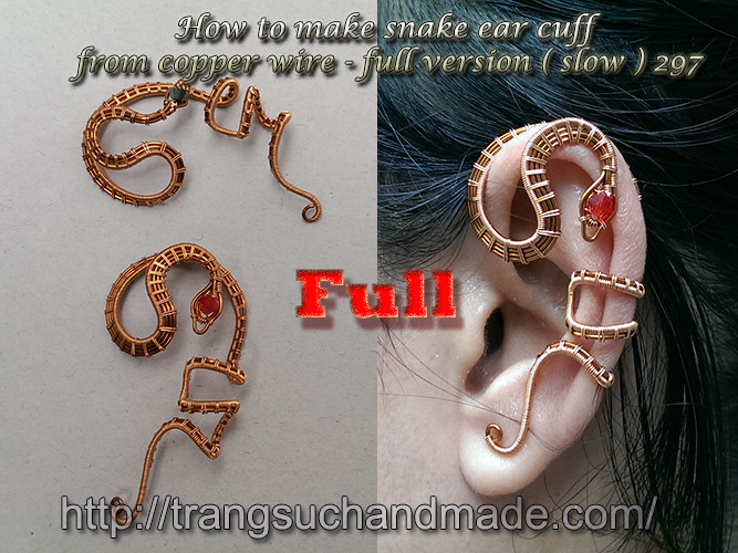 How To Make Snake Ear Cuff From Copper Wire Full Version