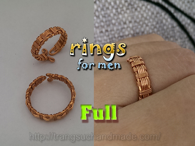 Couple rings part 1 – rings for men from copper wire – full version ...