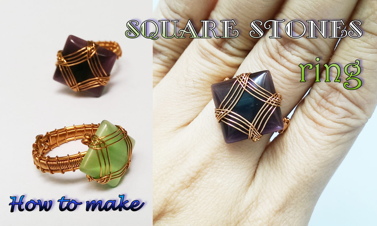 Wire Ring With Square Cabochon How To Make Jewelry From Copper 385