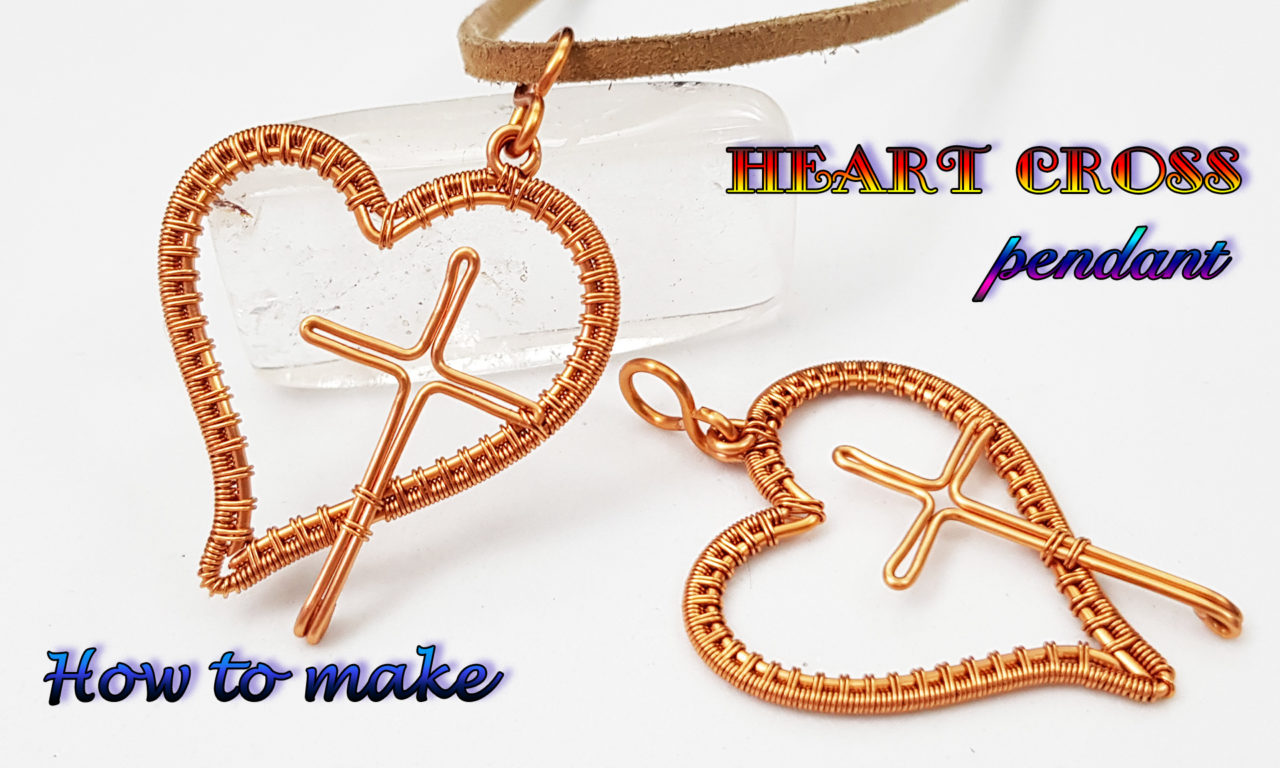 Heart cross pendant – How to make Christian necklaces from