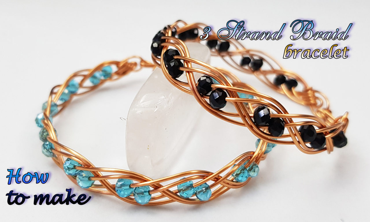 Double 3 Wire Braid Bracelet With Small Crystal How To
