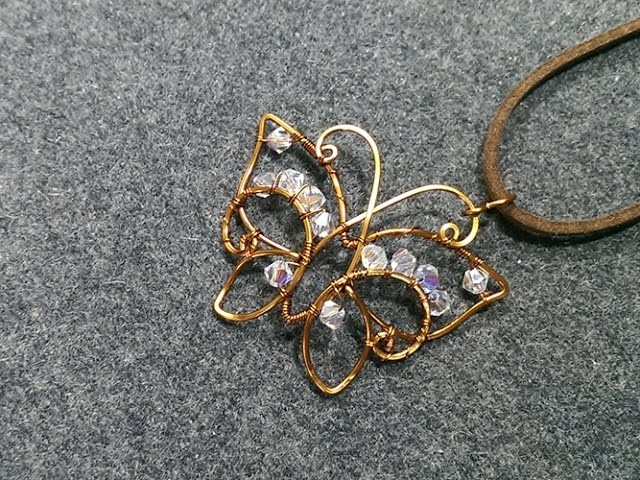 lan anh handmade butterfly pendant wire wrapping jewelry tutorial 172 7580